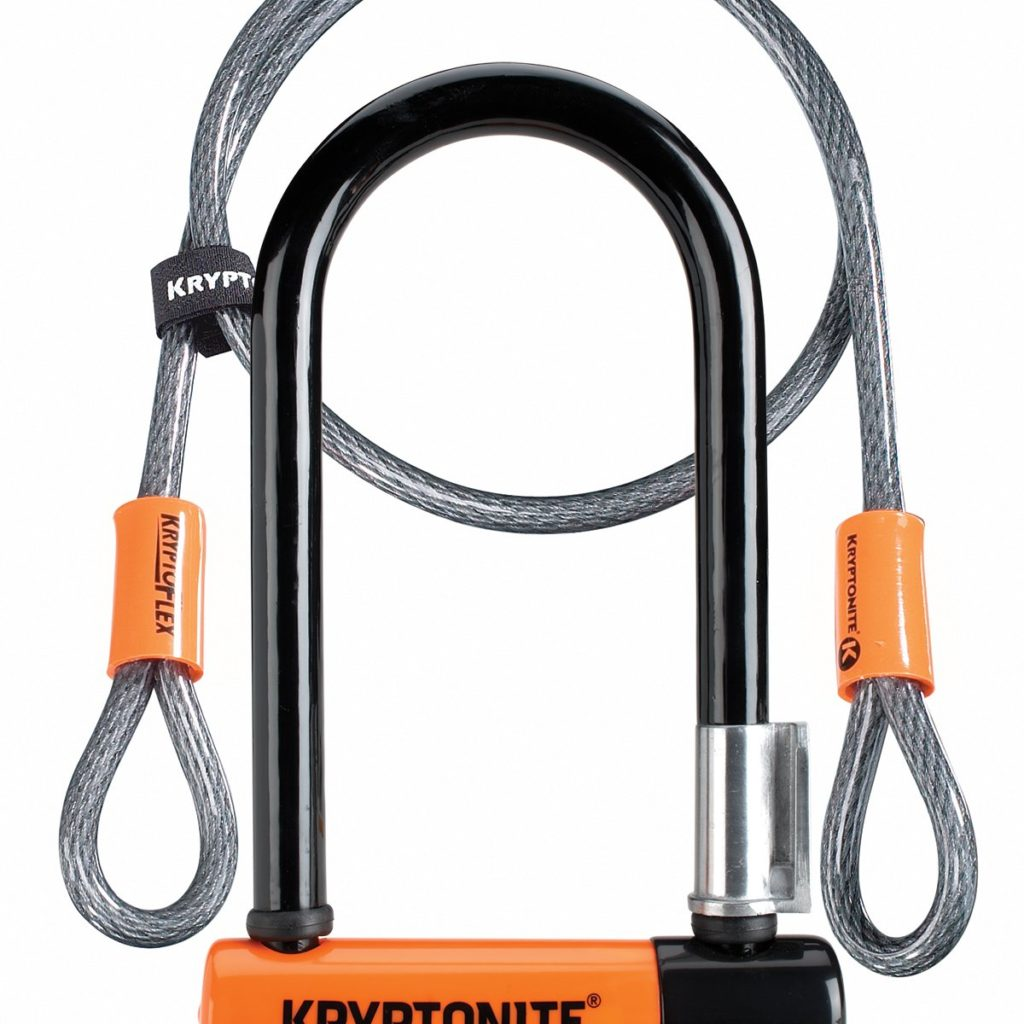 Kryptonite New U-Evolution Mini-7 Bicycle Lock with Double Loop Cable